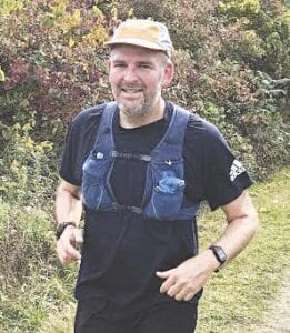 Ryan Litwiller during his 100-mile run recently. Photo provided