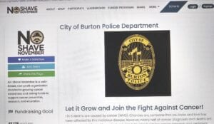 A screenshot of the Burton Police Department No-Shave November page.