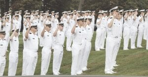 Cadets are sworn in at the USMMA. Courtesy photo