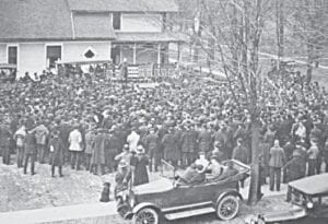 The photo shows the Nash's Flint home in 1918 while recruiting for World War I. Photo provided