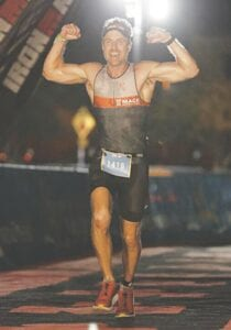 Beau Makarewicz competing at the Ironman Florida competition on Nov. 7. Photo provided