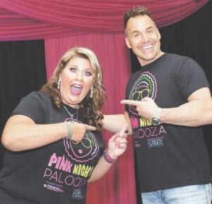 Comedian Melissa Hager and Genesee County Sheriff Chris Swanson hosted the virtual Pink Night Palooza on Oct. 1. Photo provided