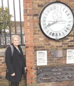 Columnist Mona Ballge on one of her trips to Greenwich, England. Photo provided