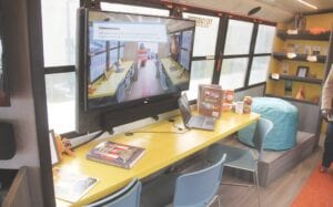 Inside the GISD Mobile Education Lab (MEL). Photos by Gary Gould