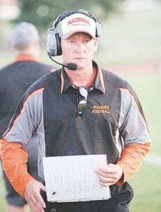 Coach Robert Oginsky led the Flushing Varsity football program for nine seasons. Photo courtesy of the Flushing High School Athletic Department