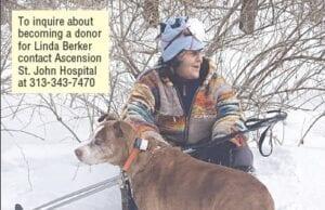 Linda Berker with her dog, Sadie. Photo provided
