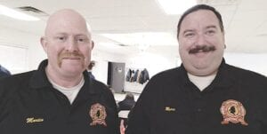 Swartz Creek Area Fire Department Lt. Scott Martin and firefighter Dave Myers organized the 4th annual 5 Alarm Chili Cookoff fundraiser which will provide scholarships for two graduating seniors this year. Photo by Lania Rocha