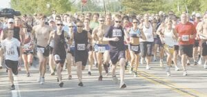 The Burton Memorial Day 5K Race usually draws more than 600 participants. File photo
