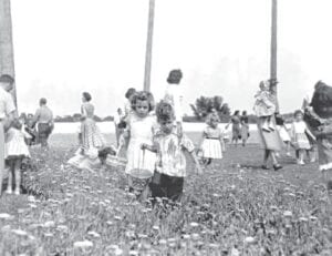 A look back at an Easter Egg hunt sometime in the past. Photo provided