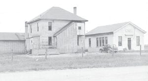 A picture of the original Atherton School around 1940. Photo provided
