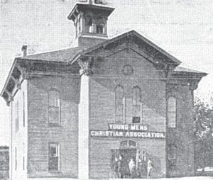 The exterior of the YMCA in its early years. Photo provided