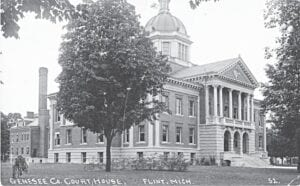 A photo of the Genesee County Courthouse from year's past. Photo provided