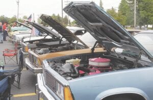 A car show was held in the parking lot of Burton City Hall as part of the Memorial Day festivities.