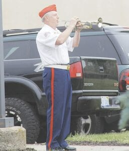 Taps was played during the ceremony, Monday.