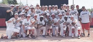 The Grand Blanc baseball team celebrating with its district title on June 5. Photo provided