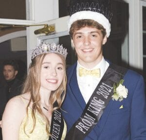 Class of 2021 Prom Queen Keeli Lindstrom (left) and Prom King Ian Barbour (right).