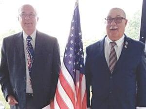 Swartz Creek Mayor David Krueger recognized Dennis Cramer as the 2020 Miller's Settlement Citizen of the Year. Photo by Lania Rocha
