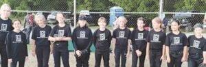 The Blackmore Rowe softball team. Photo provided
