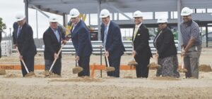 Representatives with Genesee Health System and local luminaries broke ground on the new GHS Center for Children's Integrated Services on 1402 S. Saginaw Street in Flint. Photo by Ben Gagnon