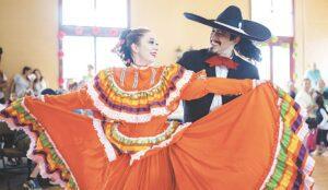 Jalisco dancers performing at an El Ballet Folklórico Estudiantil concert. Photo by Nathan Cross