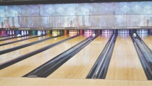 Bowling lanes at Jack's Place.
