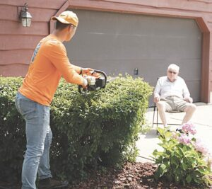 The younger generation helping the older generation is one of Gas Money's goals. Photo provided