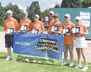 From left: Jackson Levijoki, Dylan Werner, Troy Werner, Coach Joe Simpson, Lucas Power, Jace Perroud, Katelyn Jacot. Photo provided