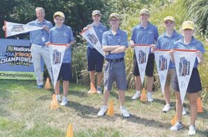 Front Row, Katelyn Jacot. Middle Row, from left, Troy Werner; Lucas Power; Jace Perroud. Back Row, from left, Captain Joe Simpson, PGA; Dylan Werner; Jackson Levijoki. Photo provided