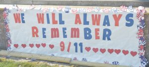 9/11 Banner created by students at Holly Elementary School.