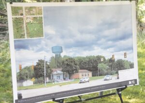 An artist rendering of what the new water storage tower will look like when completed near the intersection of Atherton and Center roads in Burton. Photo by Gary Gould