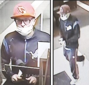 The suspect in the Sept. 20 robbery of the Chase Bank at 1232 Belsay Rd., in Burton. Photo courtesy of Crime Stoppers of Flint & Genesee County