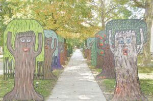 Haunted forest at Crossroads Village. Photos by Ben Gagnon